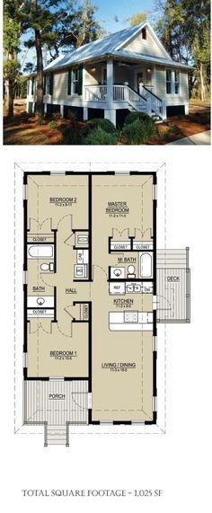 Plan 536 3 1025sf 3 bdrm 2 baths Architect Bruce