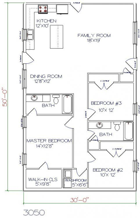 Pelan Rumah 30×50 Berguna 23 Best 30×50 Plan Images On Pinterest