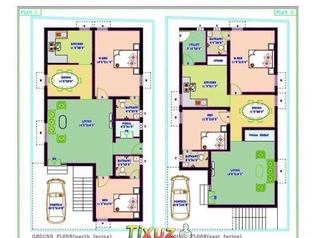 Gallery of 1500sqr Feet Single Floor Low Bud Home With Plan In Kerala Trends Tamil Nadu House Plans Sq Picture 30x50 Duplex House Plans North Facing