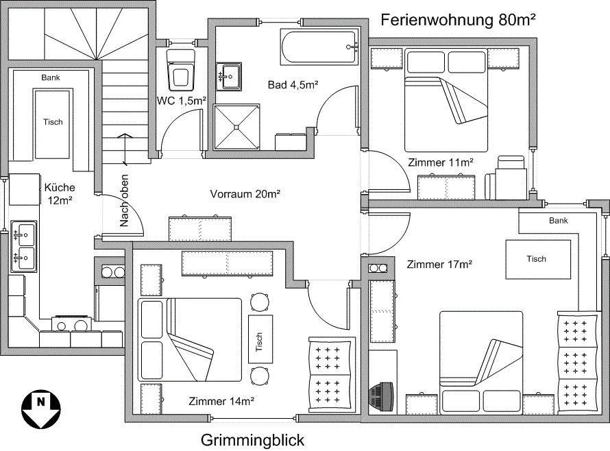 Pelan Rumah 4 Bilik 3 Bilik Air Berguna Krennbauer –blarn – Harga Terkini 2018