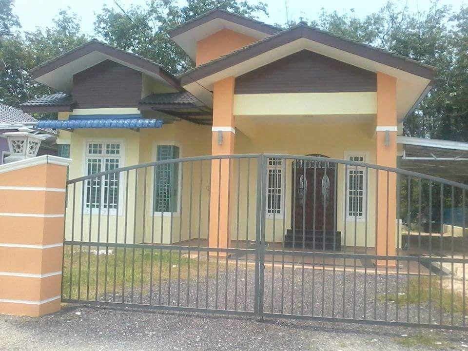 Pelan Rumah 4 Bilik 3 Bilik Air Menarik Kayu Rendang Melor 2 Unit Banglow Modern Untuk Dijual Di Kg Kayu