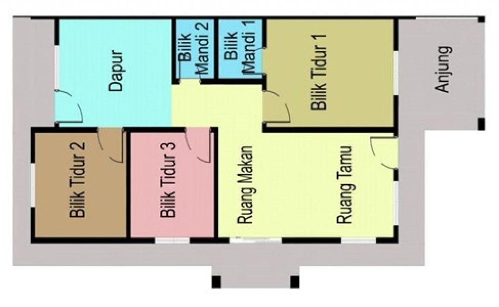 Pelan Rumah 4 Bilik Simple Penting Contoh Pelan Rumah Kos Sederhana Spnb Projek Malaysia Vista Minintod