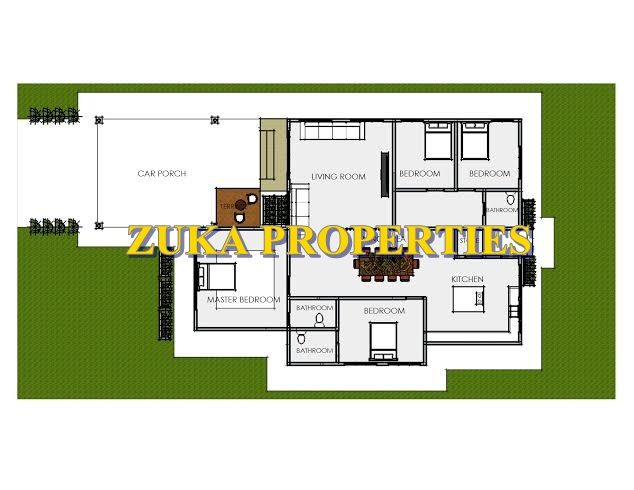 Pelan Rumah 4 Bilik Tidur 2 Bilik Air Bernilai Rumah Zuka Properties Reka Bentuk Zuka