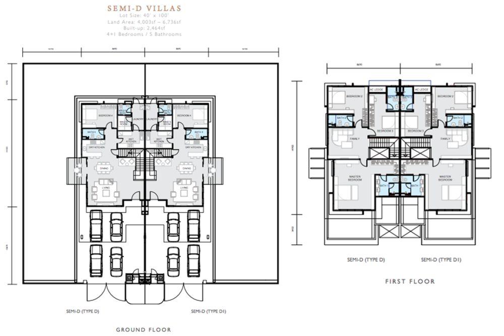 Hemingway Residences North Haven Coalfields Semi D Type D Floor Plan
