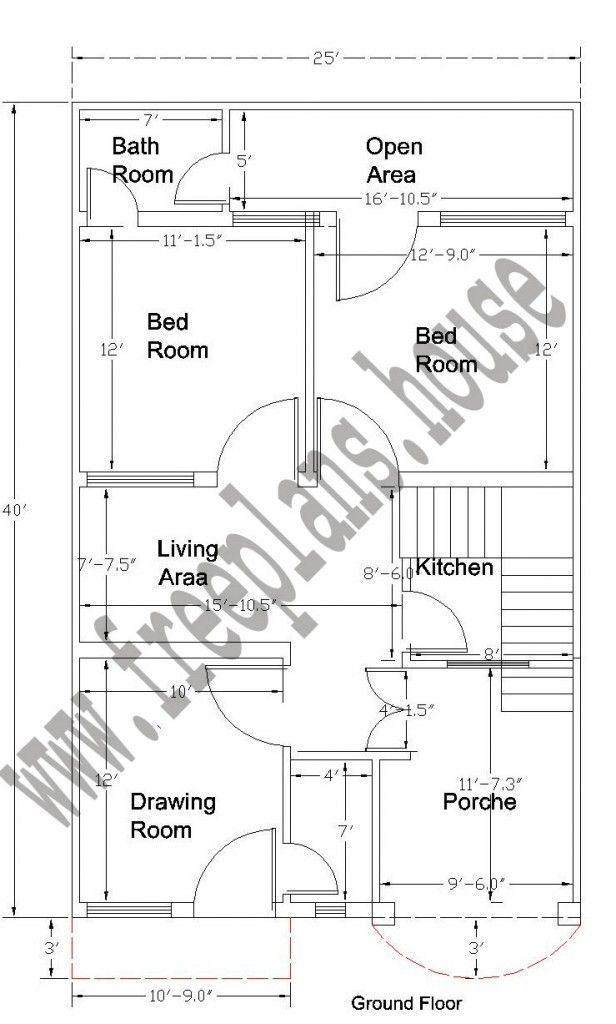 20x40 Feet Ground Floor Plan Home Map Design Home Design Plans Plan Design