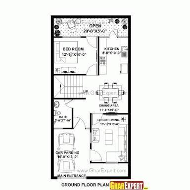 Pelan Rumah 40×30 Terhebat Image Result for 20 40 House Plan 3d
