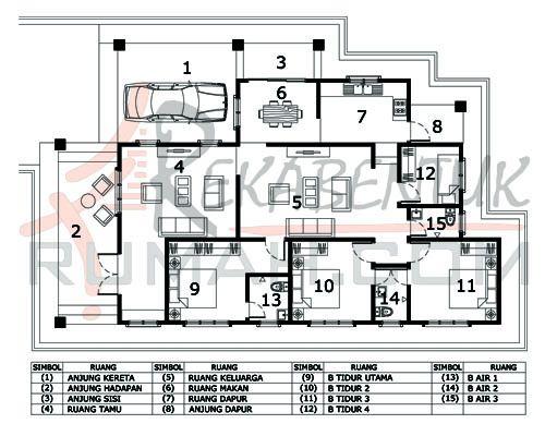Pelan Rumah 5 Bilik 1 Tingkat Power Design Rumah 4 Bilik Archives Page 2 Of 2 Rekabentuk