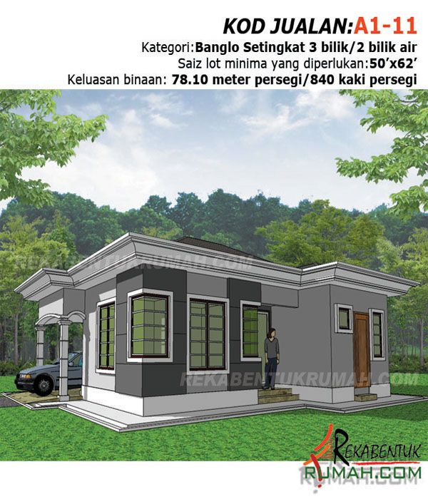 Pelan Rumah 5 Bilik Meletup Design Rumah Banglo 1 Tingkat Rekabentuk