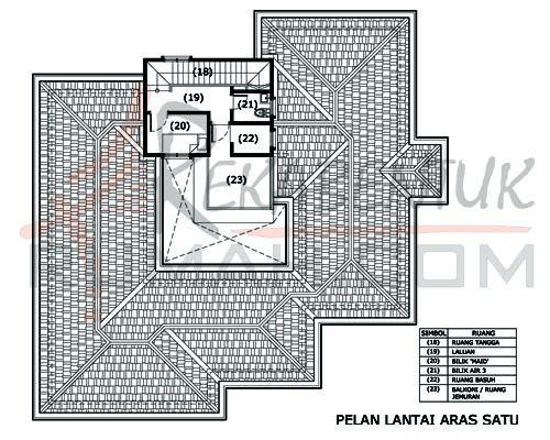 Pelan Rumah 5 Bilik Terhebat Design Rumah D2 09 5 Bilik 3 Bilik Air 58 X59 2483 Kaki