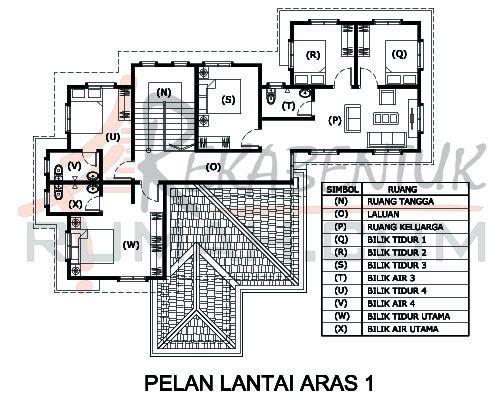 Design Rumah D2 13 6 Bilik 5 Air 57 X49 2798 Kaki Gi