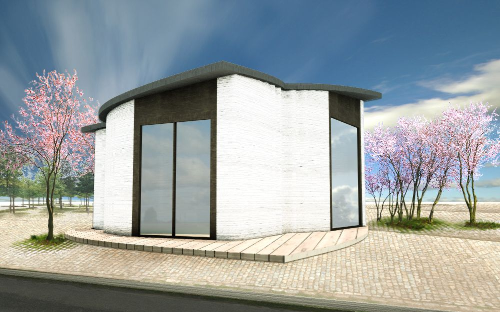 The BOD Europe s first 3D printed building
