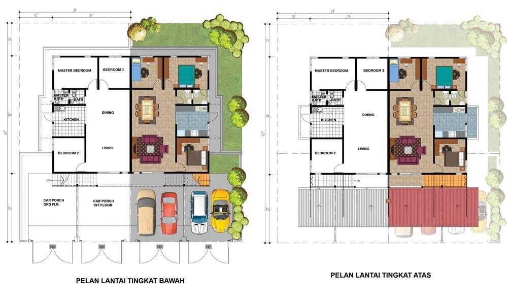 Pelan Rumah 8 Bilik Berguna Taman Kelubi Idaman – Spnb Idaman Sdn Bhd