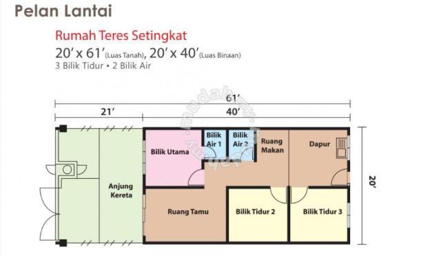 Rumah Teras Setingkat Jalan Rebung Meru klang Houses new property in Klang Selangor