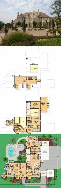 European Style Floor Plans Kondominium Pelan Lantai Rumah Persaraan Rumah Agam