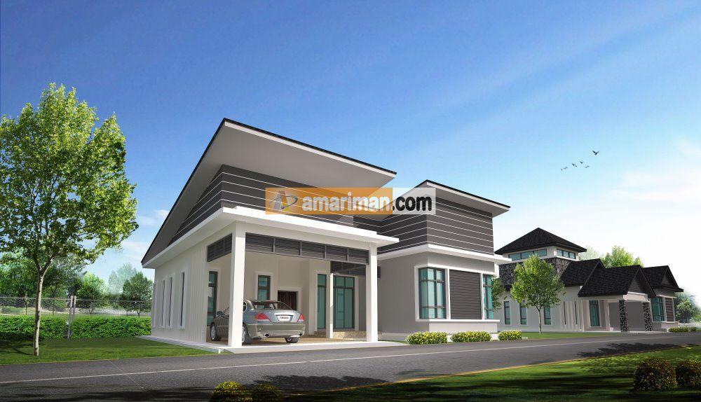 Pelan Rumah Banglo 1 Tingkat 6 Bilik Bernilai Reka Bentuk Rumah Banglo Setingkat Setengah — Bradva Docefo