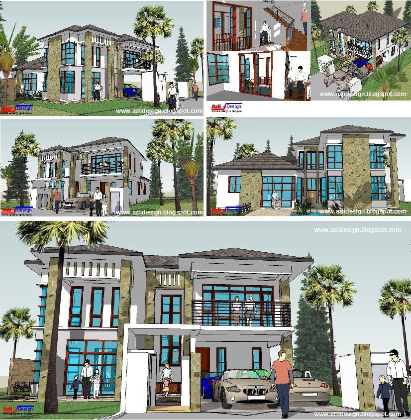 Pelan Rumah Banglo 2 Penting Idea Rumah Idaman anda Idea Design Bungalow Pelan Rumah Banglo