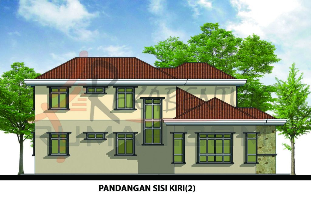 Pelan Rumah Banglo 2 Tingkat 5 Bilik Terhebat Design Rumah D2 10 6 Bilik 3 Bilik Air 64 X59 2987 Kaki