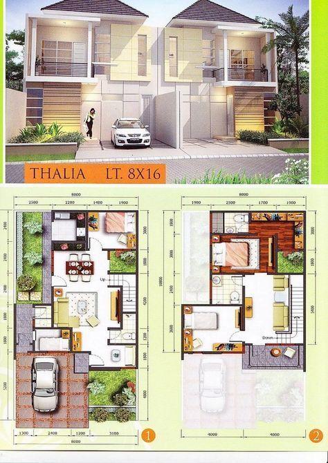 Pelan Rumah Banglo 2 Tingkat Modern Baik Denah Ukuran 9×9 M 1 2 Lantai 4