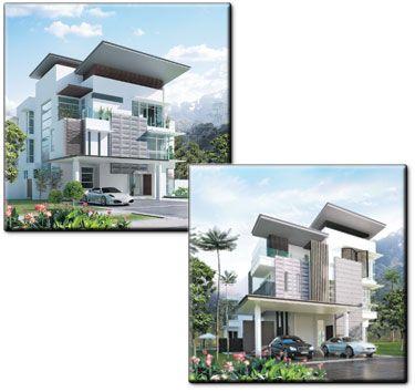 Pelan Rumah Banglo 2 Tingkat Modern Bernilai Pelan Rumah Banglo Moden Kontemporari — Bradva Docefo