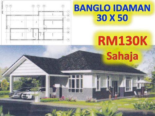 Pelan Rumah Banglo 4 Bilik Bernilai Banglo Mampu Milik Rm200k Kebawah