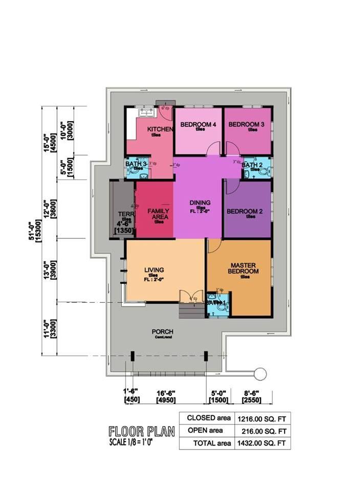 Pelan Rumah Banglo 6 Bilik Meletup Darulnaim Property