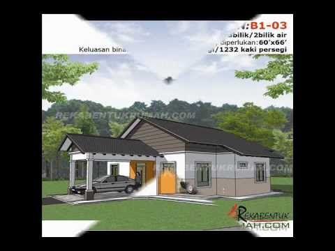 Pelan Rumah Banglo Bernilai Pelan Rumah B1 03 Pelan Banglo Setingkat 3 Bilik 2 Bilik Air