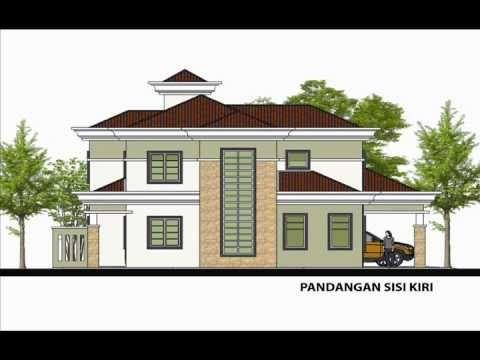 Pelan Rumah Banglo Mewah Baik Pelan Rumah D2 03 Pelan Rumah Banglo 2 Tingkat 6 Bilik 3 Bilik