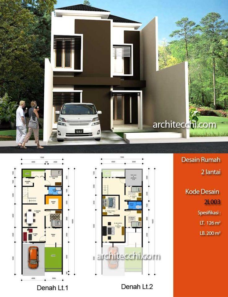 Pelan Rumah Banglo Moden 1 Tingkat Penting Desain Rumah Minimalis 2 Lantai Desain Rumah Lebar 7 Meter Desain