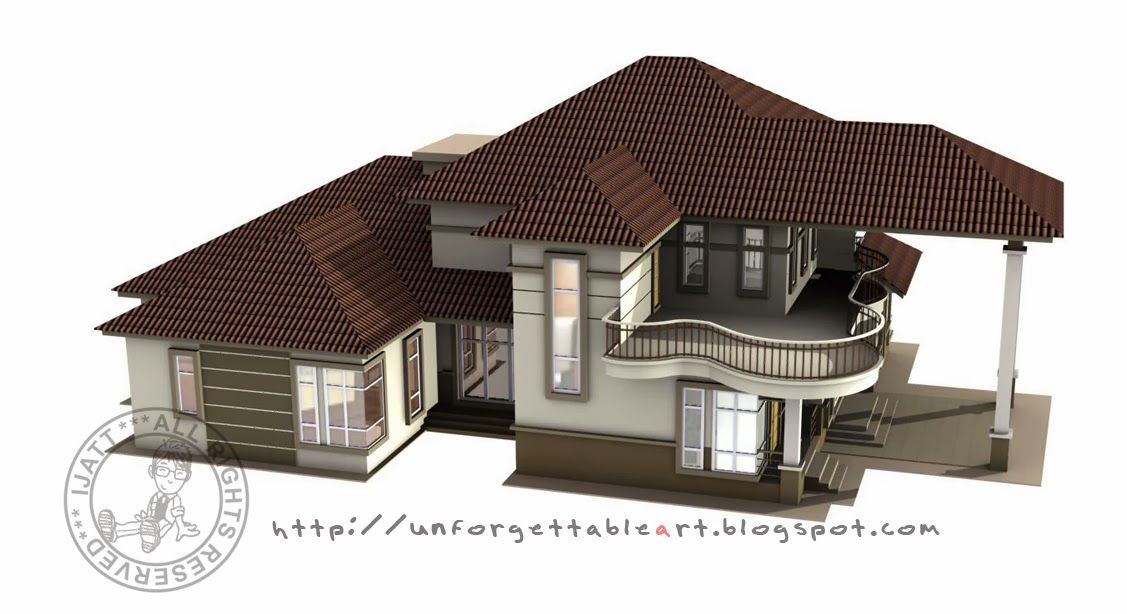 Jom Tengok Pelbagai Gambaran Pelan Rumah Banglo Moden 1 Tingkat Deko Rumah