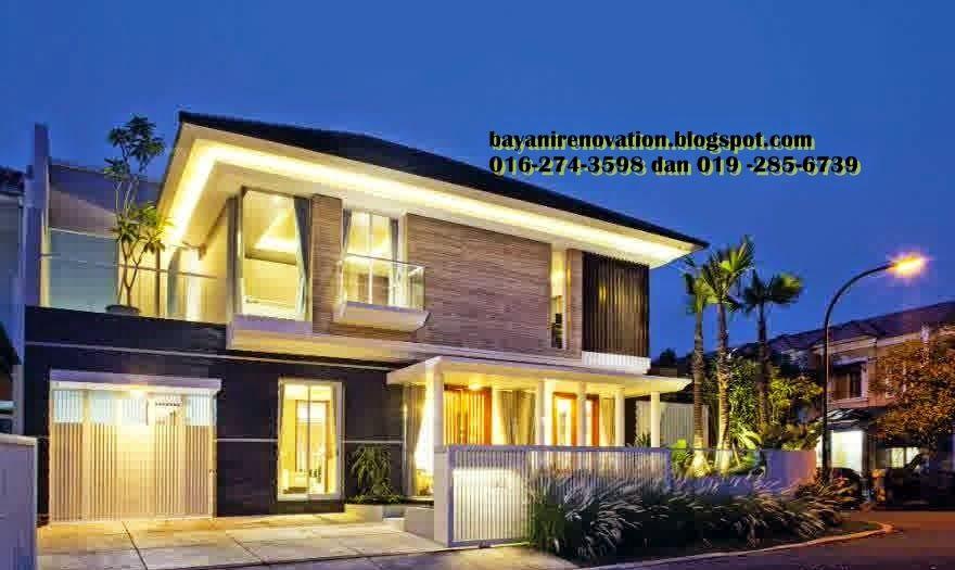 Pelan Rumah Banglo Moden Tropika Baik Reka Bentuk Simple Tropika Design