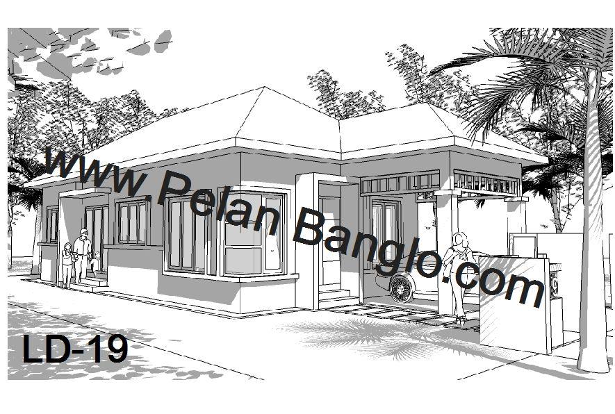 Pelan Rumah Banglo Moden Tropika Menarik Pelan Rumah Banglo Ld 11 Setingkat 5 Bilik