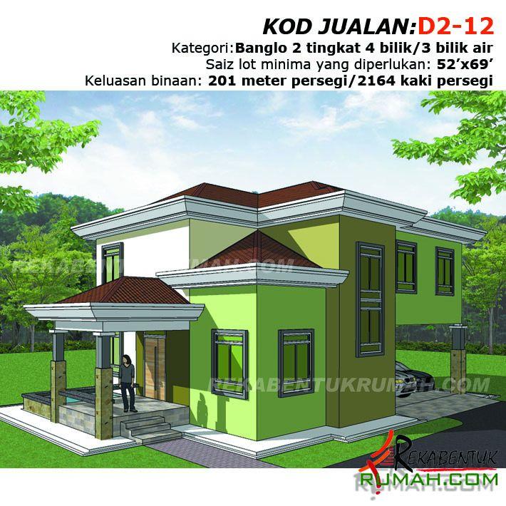 Pelan Rumah Banglo Percuma Meletup Fb D212 1 Rekabentuk