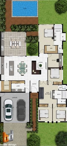 Pelan Rumah Banglo Setingkat 3 Bilik Penting Pelan Kampung 4 Bilik Design In 2018