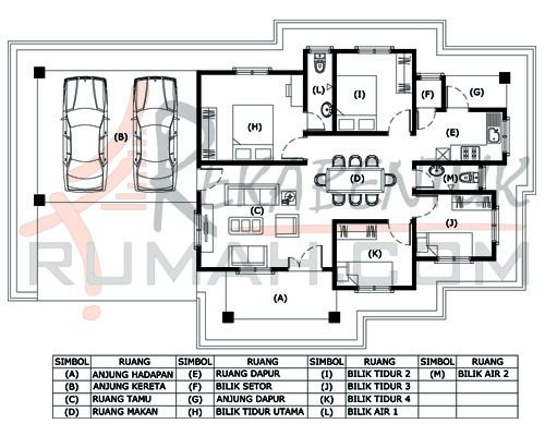 Pelan Rumah Banglo Setingkat 4 Bilik Penting Design Rumah 4 Bilik Archives Page 2 Of 2 Rekabentuk