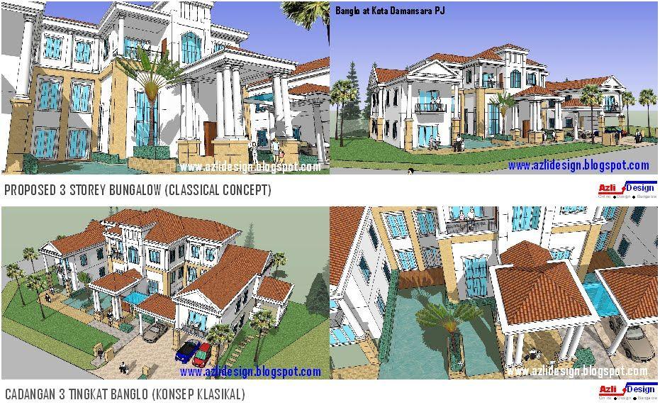 Pelan Rumah Banglo Setingkat 8 Bilik Berguna Idea Rumah Idaman anda Idea Design Bungalow Pelan Rumah Banglo