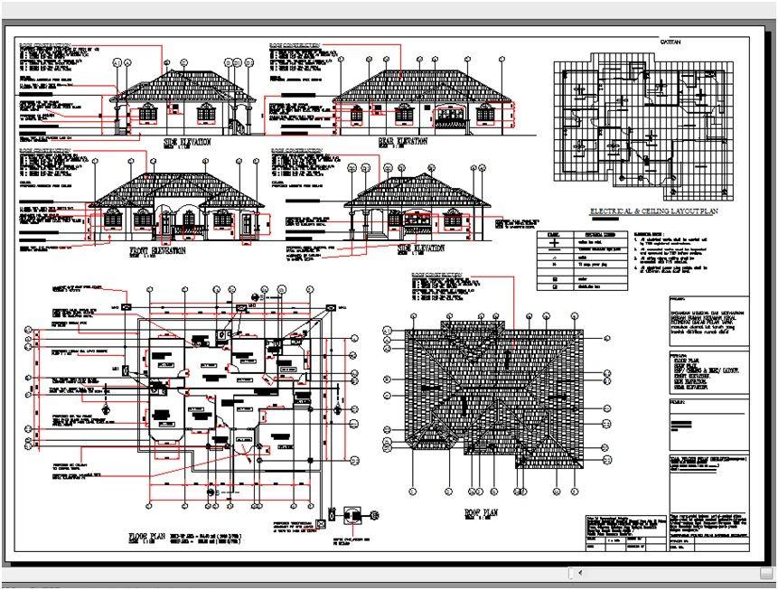pelan arkitek banglo 2 tingkat