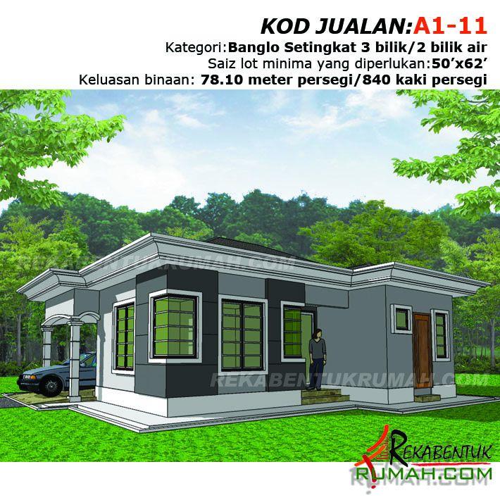 Design Rumah Banglo Setingkat 3 Bilik Air