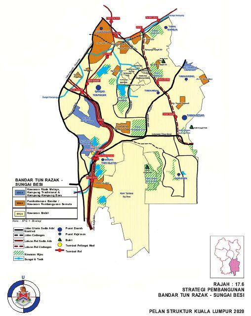 sungai dan pembaikan hubungan ke stesen LRT di Bandar Tun Razak dan stesen KTM di Salak Selatan melalui pembangunan pe an kos rendah ke selatan