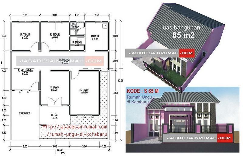 Pelan Rumah Beserta Ukuran Baik Rumah Kecil Kuning Minimalis Di Kupang Jasa Desain Rumah