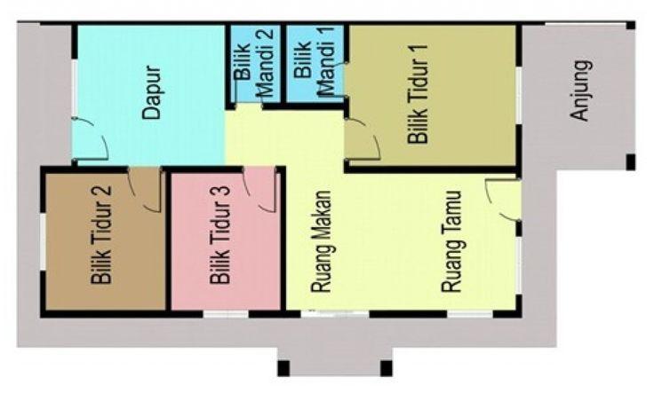 Pelan Rumah Bina Sendiri Hebat Contoh Pelan Rumah Kos Sederhana Spnb Projek Malaysia Vista Minintod