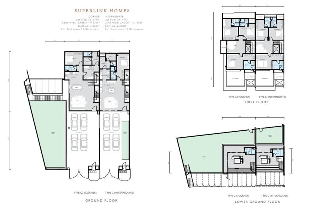 Hemingway Residences North Haven Coalfields Superlink Type C Floor Plan