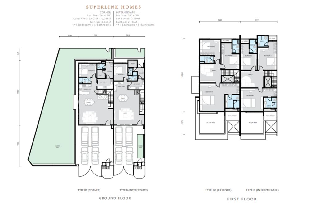 Hemingway Residences North Haven Coalfields Superlink Type B Floor Plan