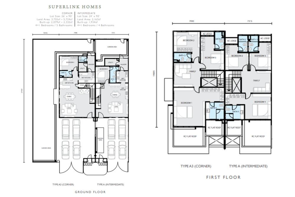 Hemingway Residences North Haven Coalfields Superlink Type A Floor Plan