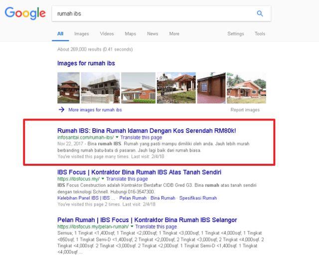 keputusan google search untuk ibs