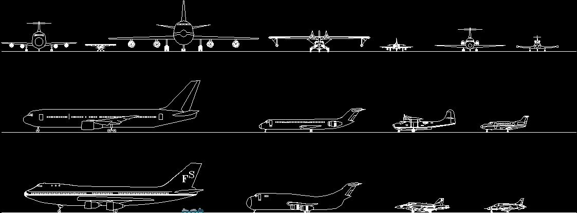 Pelan Rumah Dwg Penting Airplanes Dwg Plan for Autocad • Designs Cad