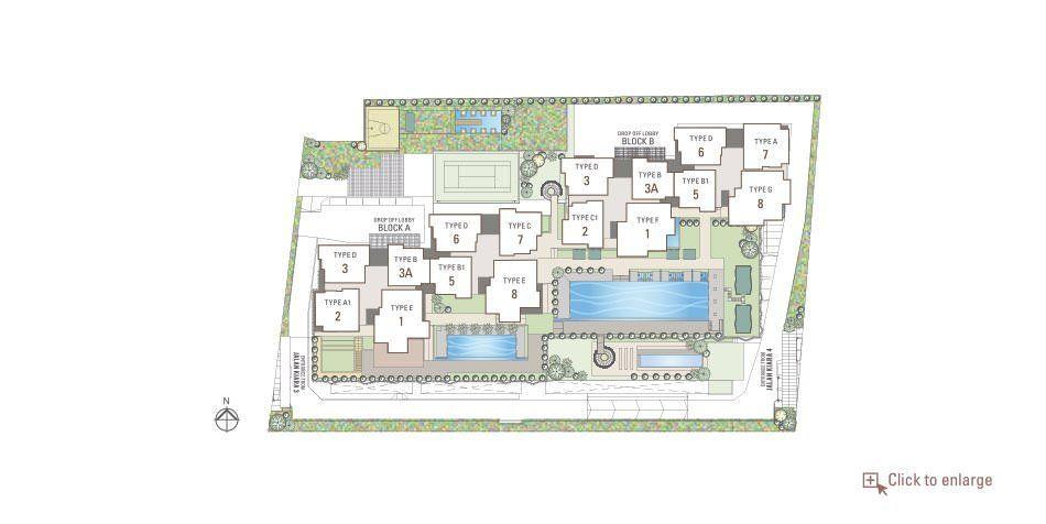 Site Plan of Residensi 22