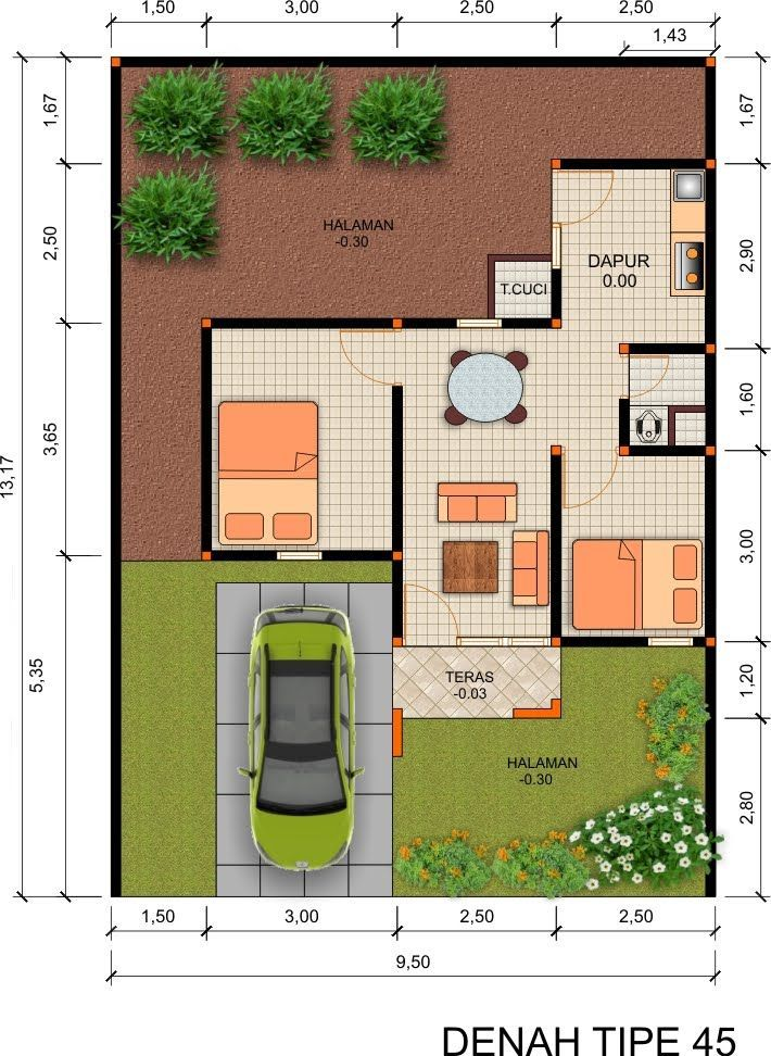 Type Rumah Loft Design Rumah Cottage Plan Small House Design Micro House