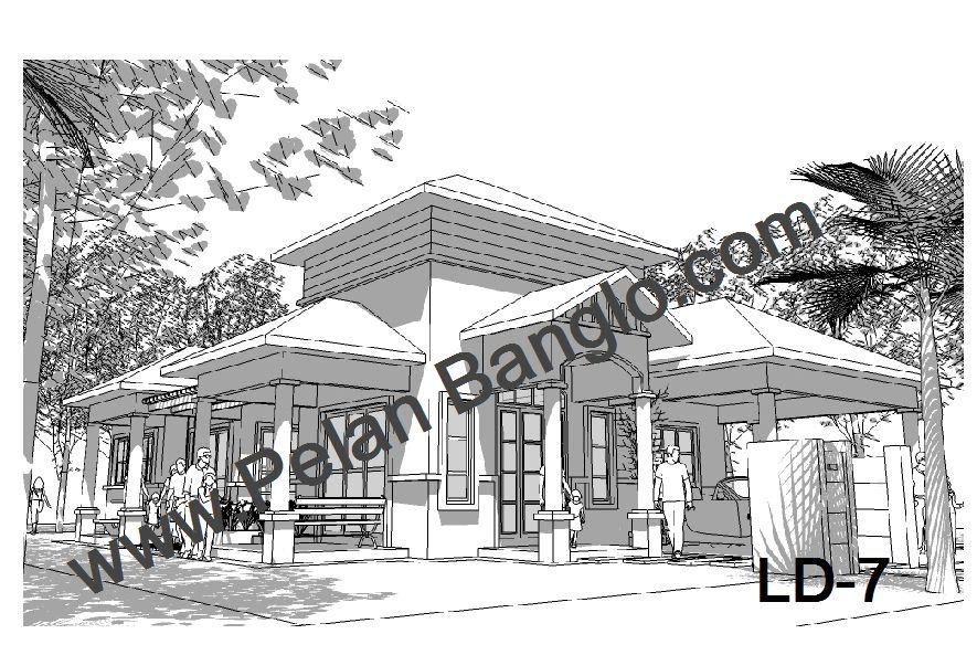 Pelan Rumah Banglo LD 8 6 bilik