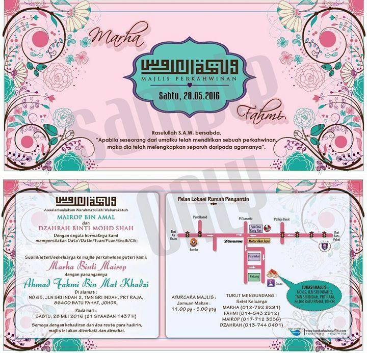 Majlis Perkahwinan Marha & Fahmi