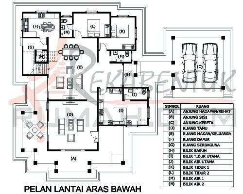 Pelan Rumah Kampung Moden Penting Design Rumah 5 Bilik Archives Rekabentuk